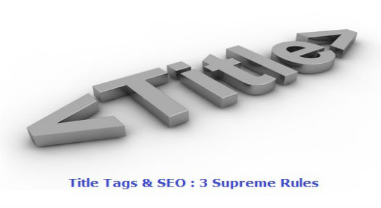 title tags, meta tags