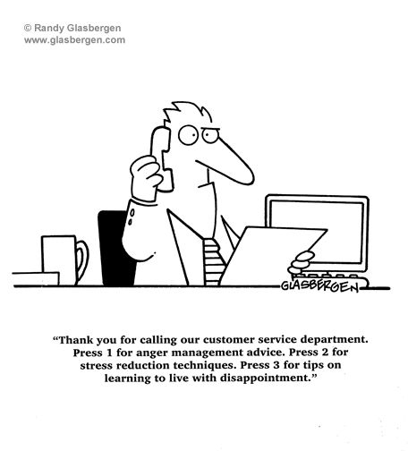 cartoons, customer service cartoons, customer service department