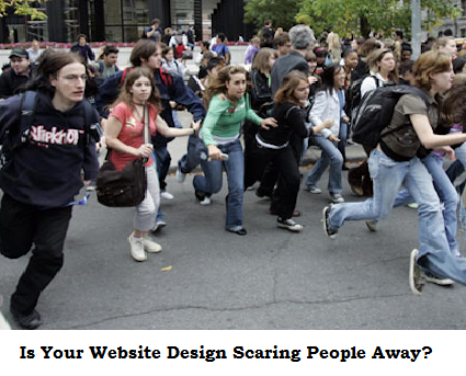 web design, website design, bad web design